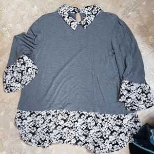 Women's layered look blouse
